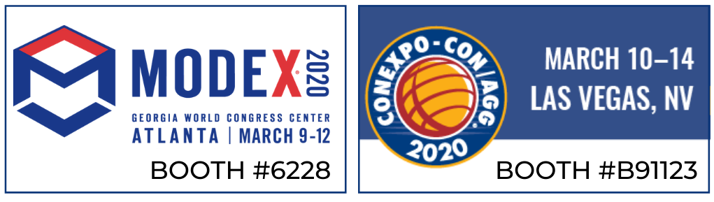 Going to CONEXPO or MODEX? See you there!